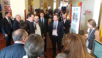 El presidente del Gobierno en el stand de la Red emprendeverde en The South Summit.